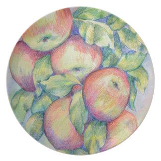 Assiettes En Mélamine Pommes de colline de dépôt
