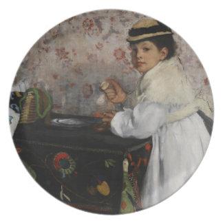 Assiettes En Mélamine Portrait d'Edgar Degas | de Mlle. Hortense