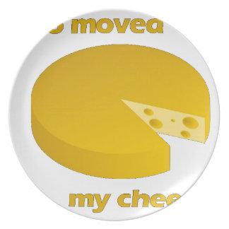 Assiettes En Mélamine Qui a déplacé le fromage