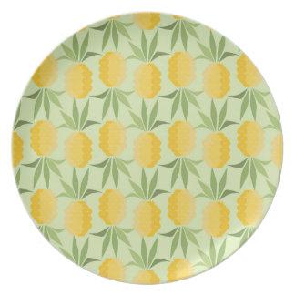 Assiettes En Mélamine Rétros ananas