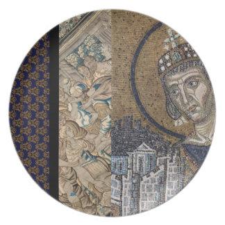 Assiettes En Mélamine Roi Faience tapisserie J2M