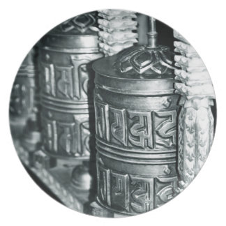 Assiettes En Mélamine Roues de prière bouddhistes