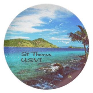 Assiettes En Mélamine Saint Thomas U.S.V.I.