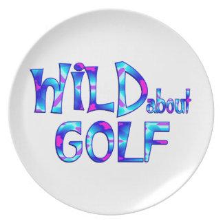 Assiettes En Mélamine Sauvage au sujet du golf