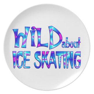 Assiettes En Mélamine Sauvage au sujet du patinage de glace