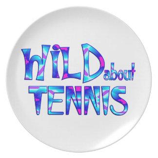 Assiettes En Mélamine Sauvage au sujet du tennis