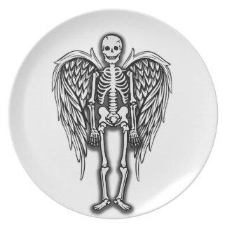 Assiettes En Mélamine Squelette d'ange
