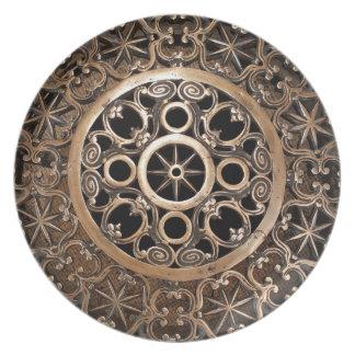 Assiettes En Mélamine Steampunk antique de bronze en métal de Vatican
