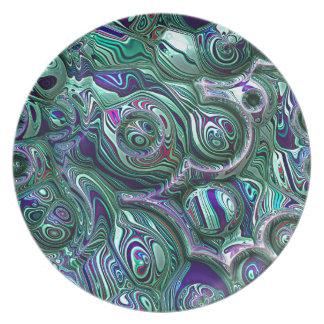 Assiettes En Mélamine Tache floue colorée du résumé 3D