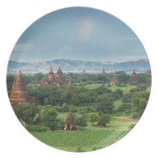 Assiettes En Mélamine Temples dans Bagan, Myanmar