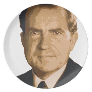 Assiettes En Mélamine Tête de Nixon