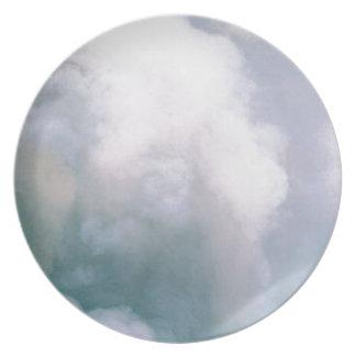Assiettes En Mélamine texture de fumée de nuage