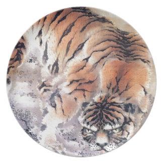 Assiettes En Mélamine Tigre dans la brume