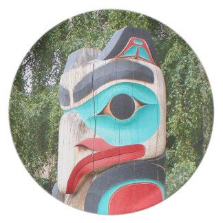 Assiettes En Mélamine Totem Polonais, Anchorage, Alaska 2 de Natif