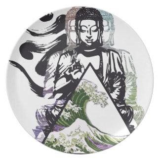 Assiettes En Mélamine vague 2 de Bouddha