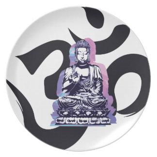 Assiettes En Mélamine vague 3 de Bouddha