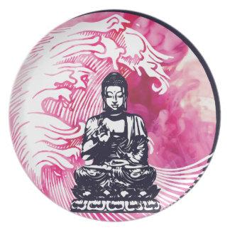 Assiettes En Mélamine Vague de Bouddha d'ouragan