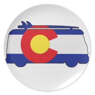 Assiettes En Mélamine Van hippie - Colorado