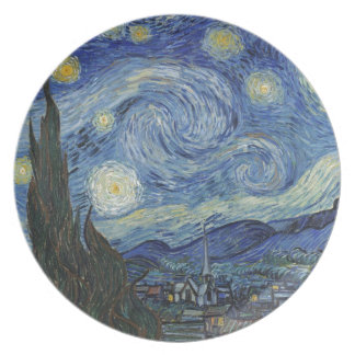 Assiettes En Mélamine Vincent van Gogh | la nuit étoilée, juin 1889