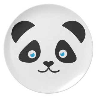 Assiettes En Mélamine visage d'ours panda