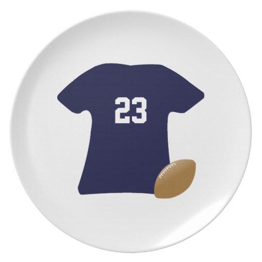 Assiettes En Mélamine Votre chemise du football avec la boule v2