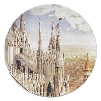 Assiettes En Mélamine Voyage vintage de Milan