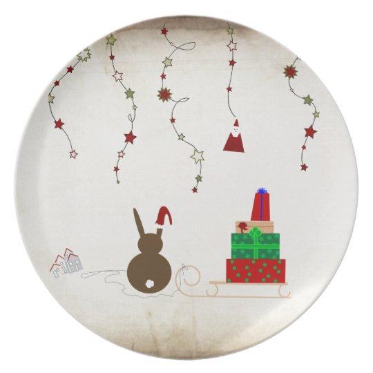 Assiettes En Mélamine Waiting for Santa Claus