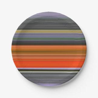 Assiettes En Papier #1 abstrait : Orange et gris