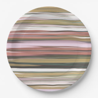 Assiettes En Papier #2 abstrait : Tache floue de couleurs d'automne