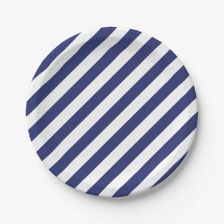 Assiettes En Papier 4 juillet plaques à papier de partie blanche bleue