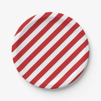 Assiettes En Papier 4 juillet plaques à papier de partie blanche rouge