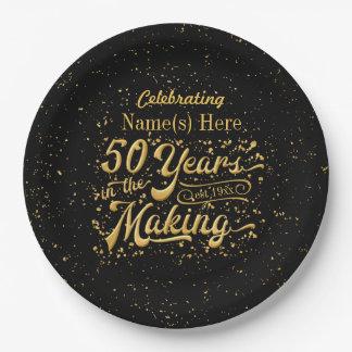 Assiettes En Papier 50 ans dans la fabrication - anniversaire ou