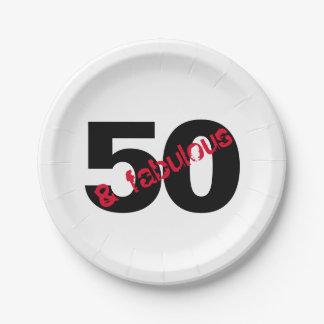 Assiettes En Papier 50 et approvisionnements fabuleux de partie de