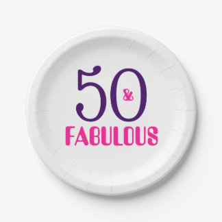 Assiettes En Papier 50 et cinquantième plaque à papier fabuleuse de