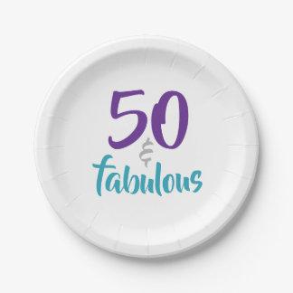 Assiettes En Papier 50 et fabuleux - cinquantième approvisionnements