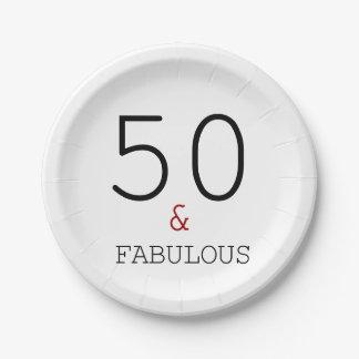 Assiettes En Papier 50 et fabuleux. Plaque à papier de fête