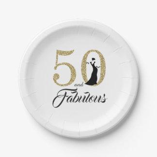Assiettes En Papier 50 et fête d'anniversaire fabuleuse de parties