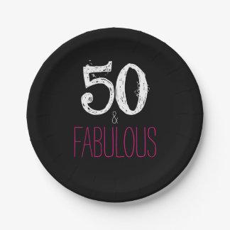 Assiettes En Papier 50 et plaques à papier fabuleuses de fête
