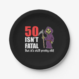Assiettes En Papier 50 n'est pas mortel mais c'est faucheuse encore