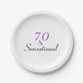 Assiettes En Papier 70 et soixante-dixième papier sensationnel de fête