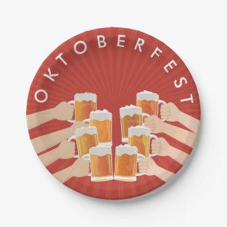 Assiettes En Papier Acclamations pour Oktoberfest ! Bières pour chacun