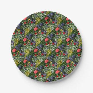 Assiettes En Papier Affichage floral 2