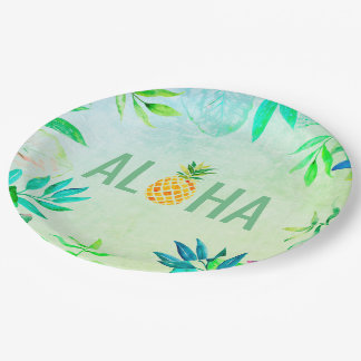 Assiettes En Papier aloha ananas