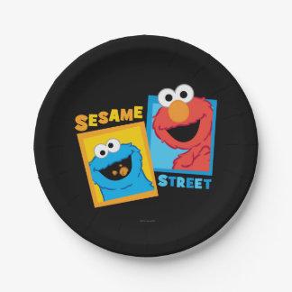 Assiettes En Papier Amis d'Elmo et de monstre de biscuit