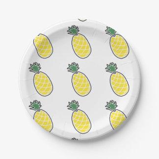 Assiettes En Papier Ananas