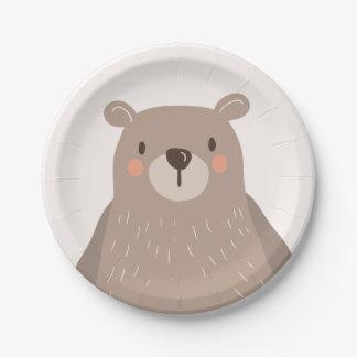 Assiettes En Papier Animaux de région boisée de baby shower de plaques