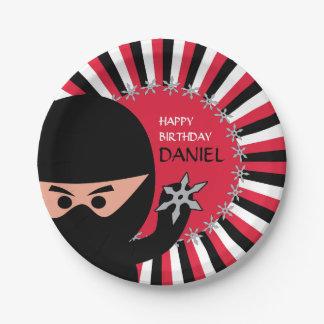 Assiettes En Papier Anniversaire de guerrier de Ninja plaque à papier