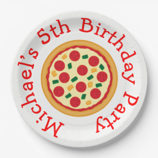 Assiettes En Papier Anniversaire de partie de pizza