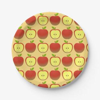 Assiettes En Papier Apple et demi de motif