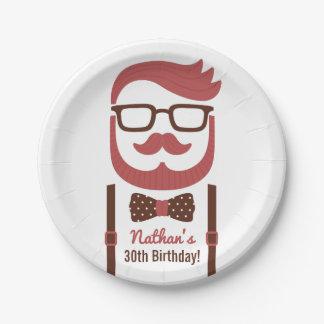 Assiettes En Papier Approvisionnements de fête d'anniversaire d'hommes